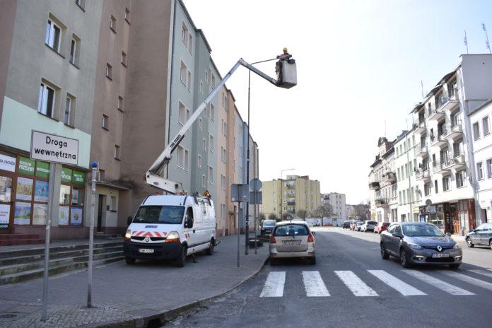 Wymiana oświetlenia ulicznego w Żaganiu