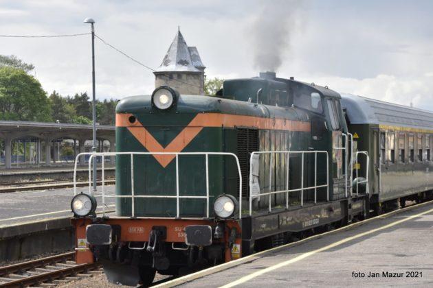 Pociąg retro w Żaganiu