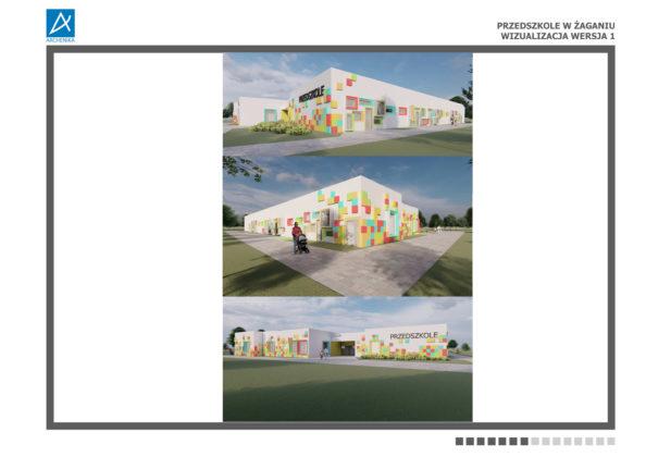Projekt nowego miejskiego przedszkola w Żaganiu