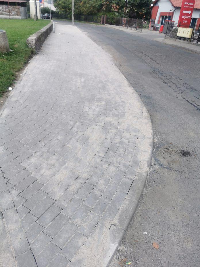 Nowy chodnik na ul. Kopernika
