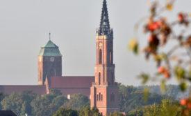 Wieża koscioła ewangelickiego Żagań