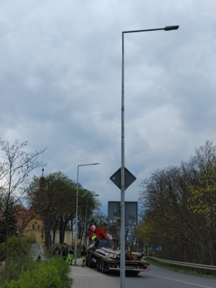 Nowe lampy na ulicy Żaganny