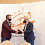 Jacek Patka i burmistrz Andrzej Katarzyniec