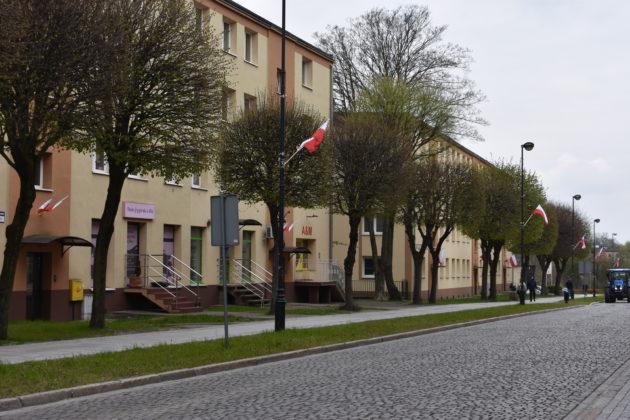Flagi na ulicy Ratuszowej