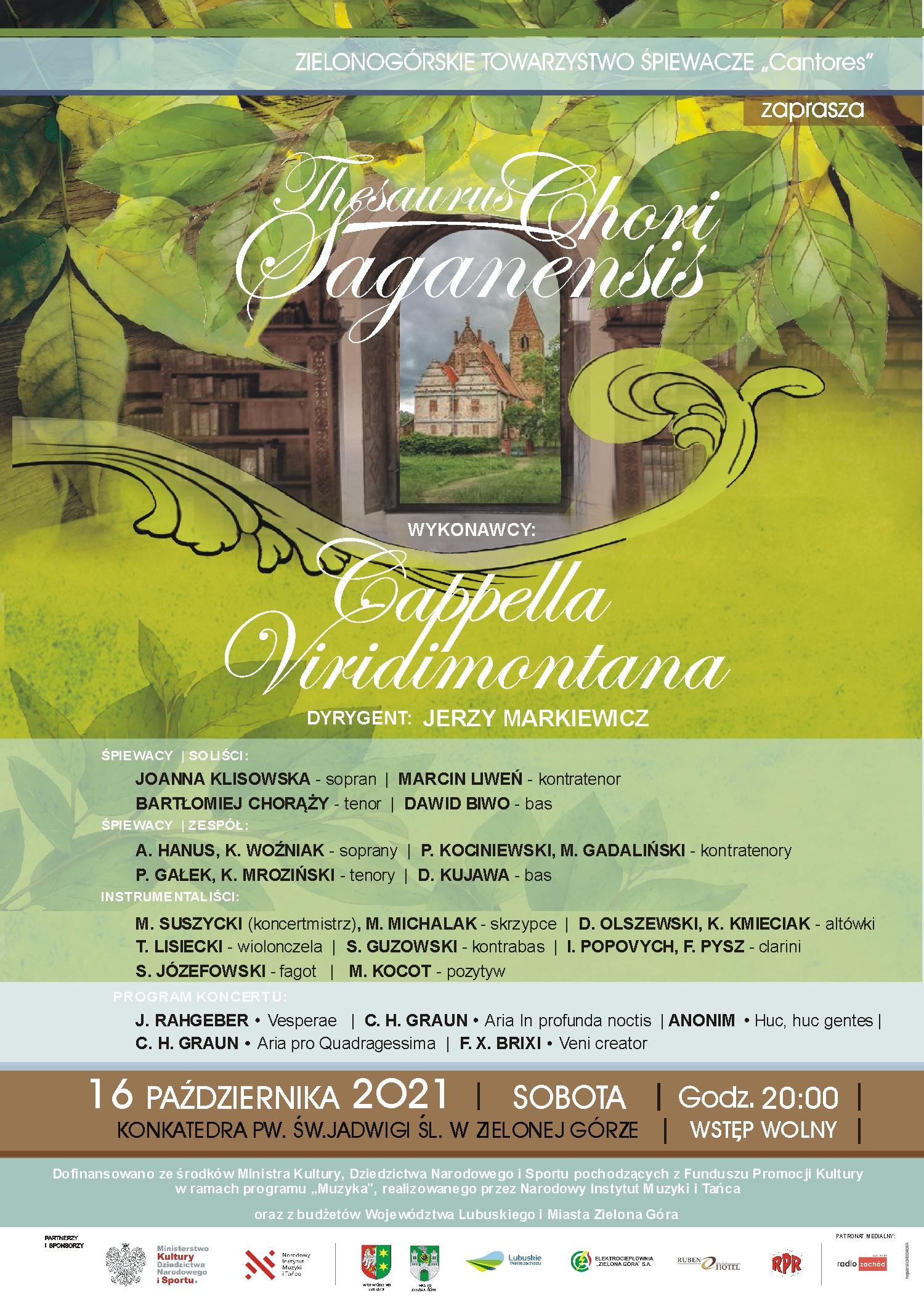 Plakat Thesaurus Chori Saganensis